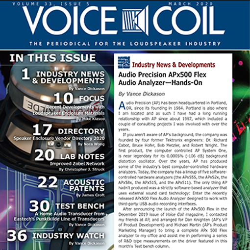 PUNKTKILDE Mg-Li Woofer is on Voice Coil March Issue